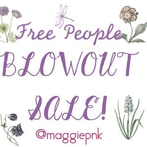 Free People Blowout Sale! Lowest Prices on Posh!
